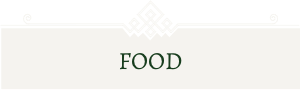 The text 'food' in green font