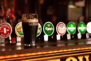 A pint of Guinness at The Quays Bar