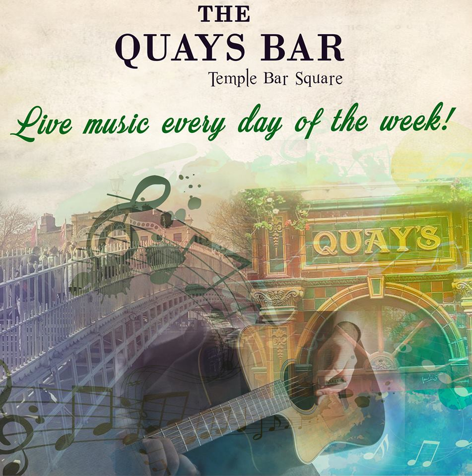 The Quays Bar live music every day of the week poster